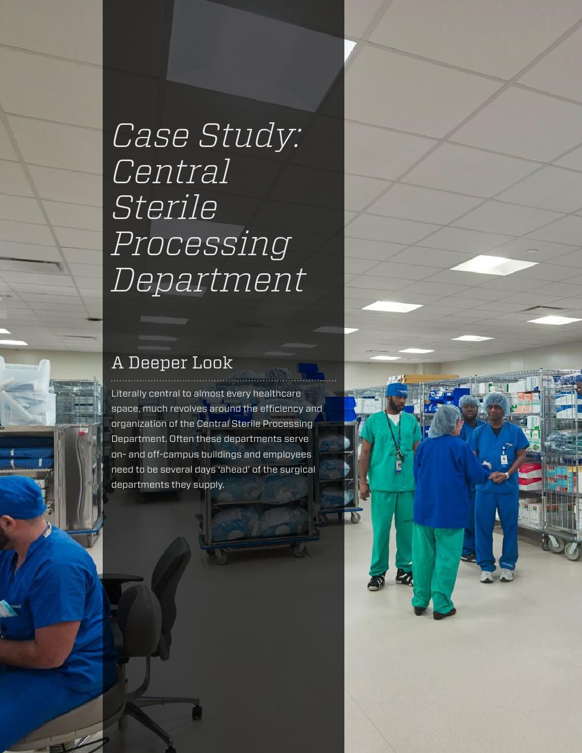 Case Study Central Sterile Processing Department