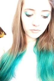 turquoise hair brown
