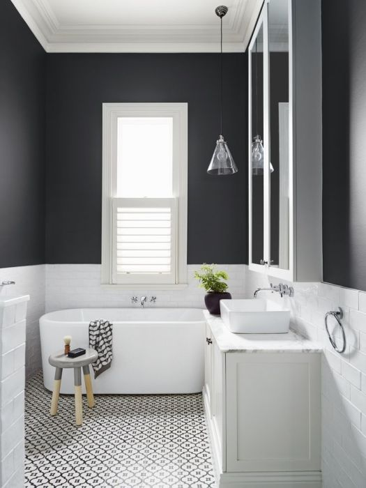 Charcoal And White Bathroom Colour Scheme