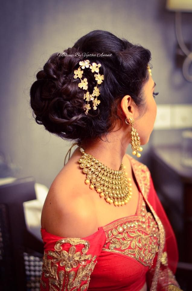 Indian Brides Reception Hairstyle By Vejetha For Swank