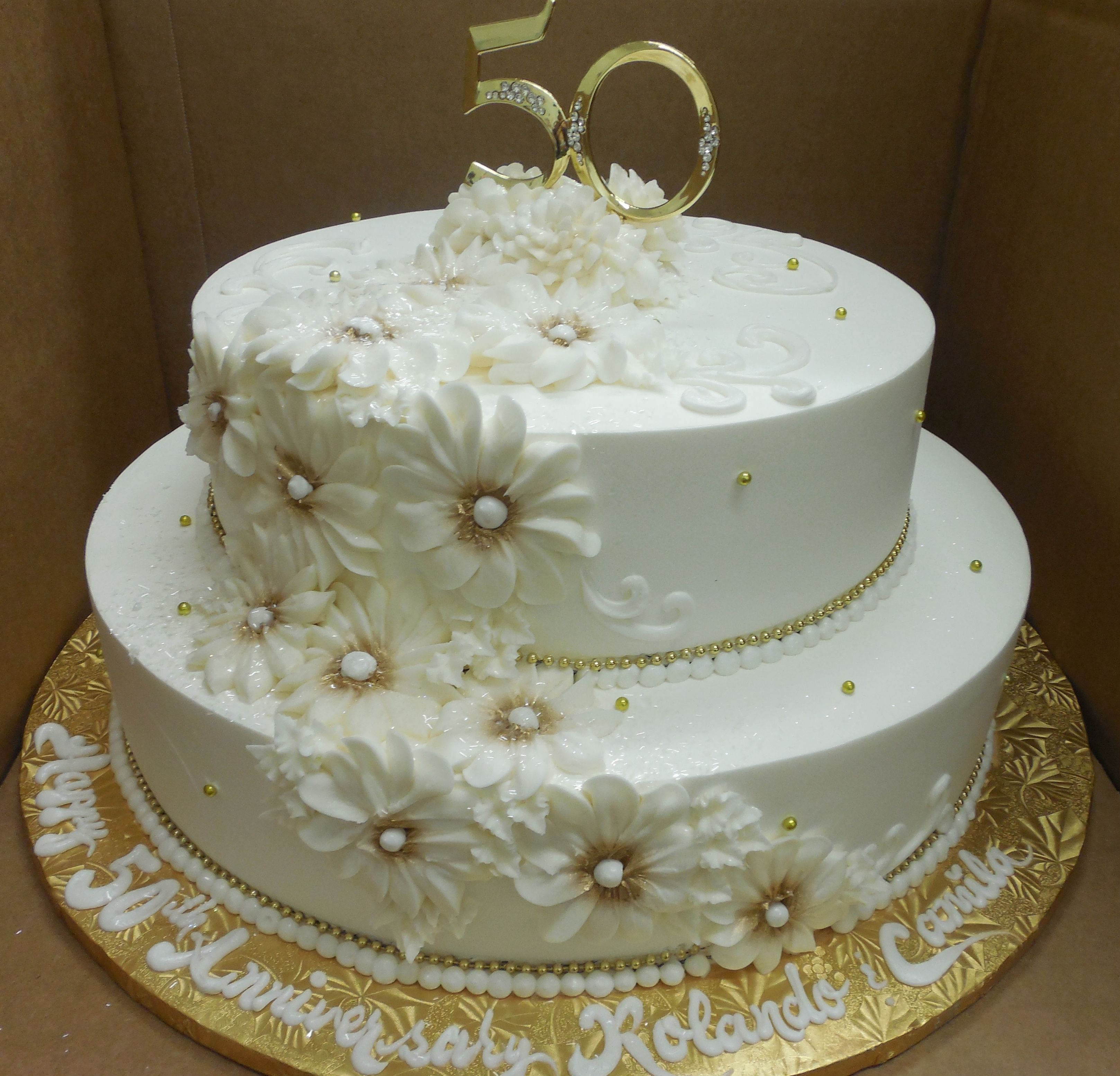 Calumet Bakery 50th Wedding Anniversary Gold Daisy
