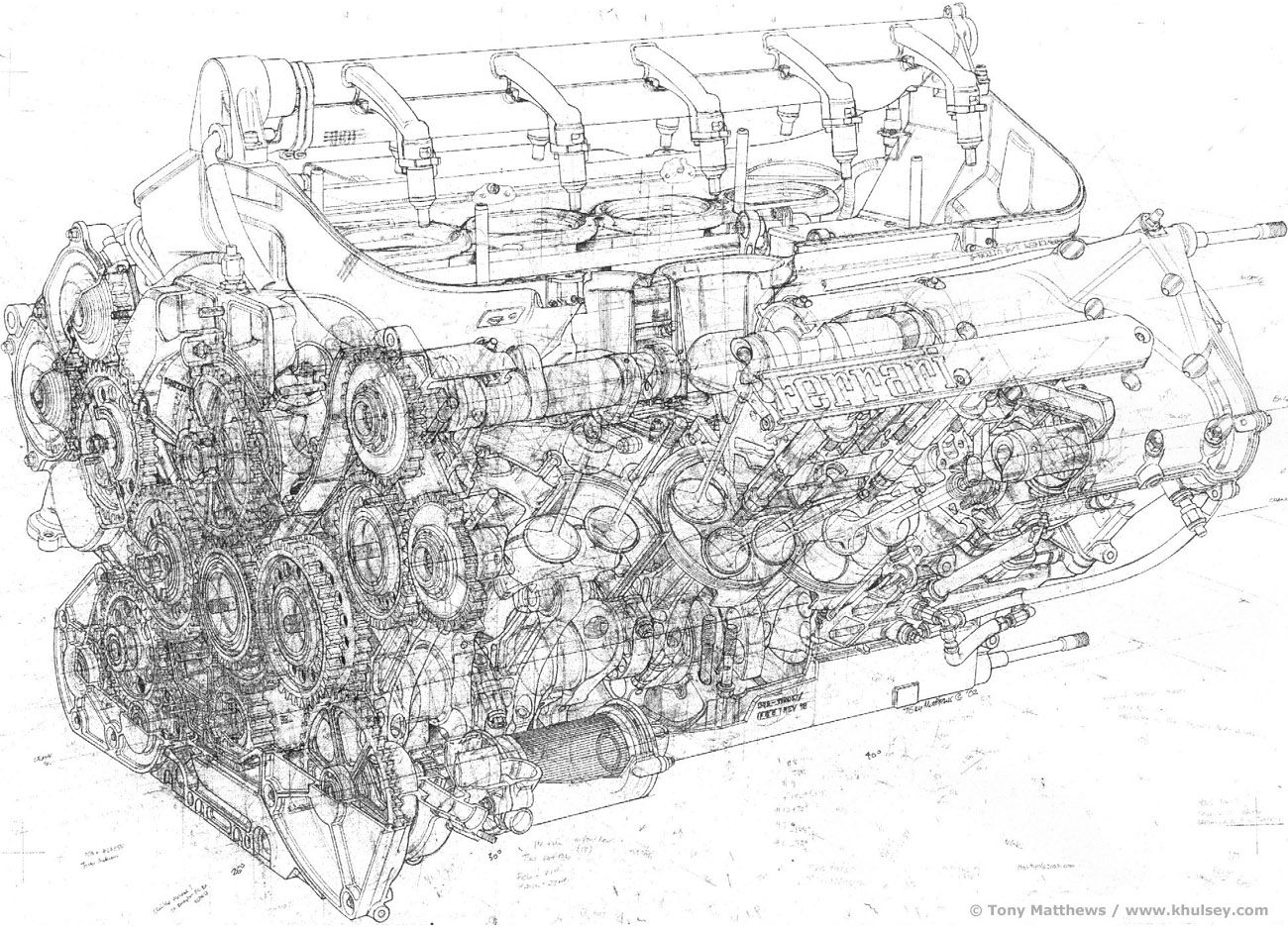 Ferrari F1 Engine Schematic