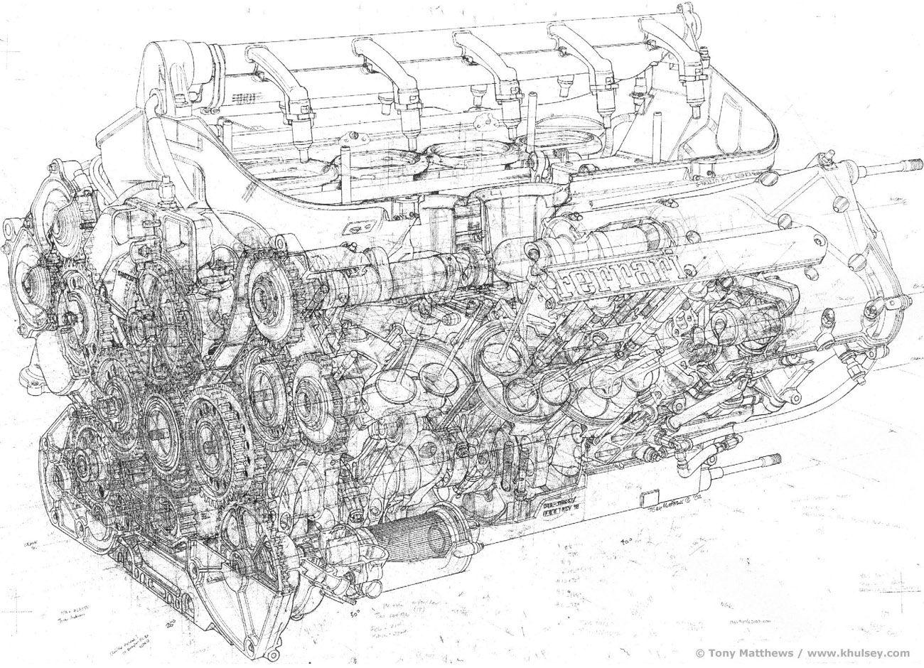 Ferrari F1 Engine Schematic