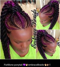 fishbonefishtail braid on african american natural hair ...