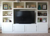 Living Room Renovation With DIY Entertainment Center for ...