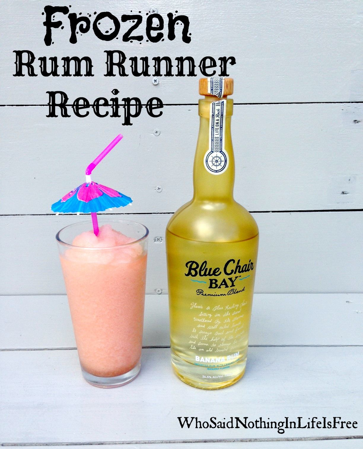 Blue Chair Bay Coconut Rum Frozen Rum Runner Cocktail Made With Blue Chair Bay Banana