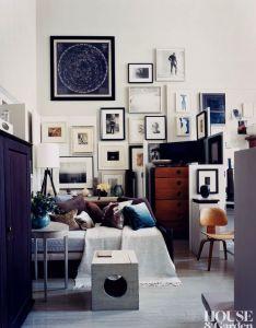 Thomas   brien gallery wall loft consetalltion art american modern also rh pinterest