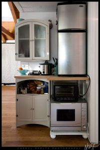 Crowded but efficient kitchen for a small space, really ...