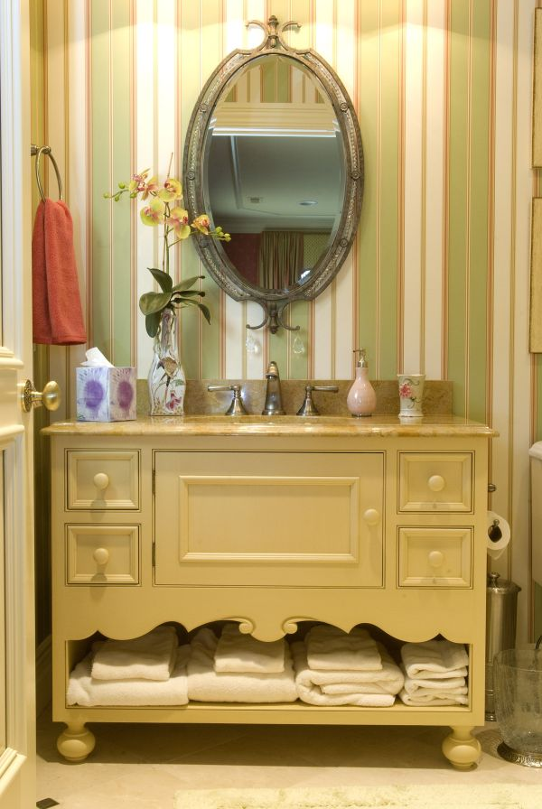 French Country Bath Oberholtzer Custom Cabinetry Design