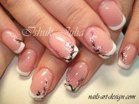 Cherry Blossom nail art   Belleza - Uas: Esmaltes y nail ...