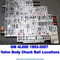 700r4 Exploded Diagram Hot Rod Turn Signal Wiring Check Ball Locations In Gm's 4l60e Transmission Valve Bodies. There Are A Total Of 7 Balls ...