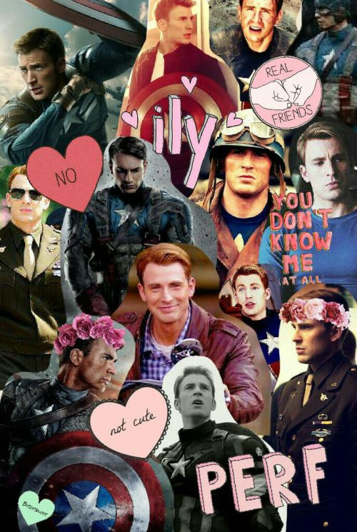 Cute Cap Bucky Iphone Wallpaper Captain America Collage I