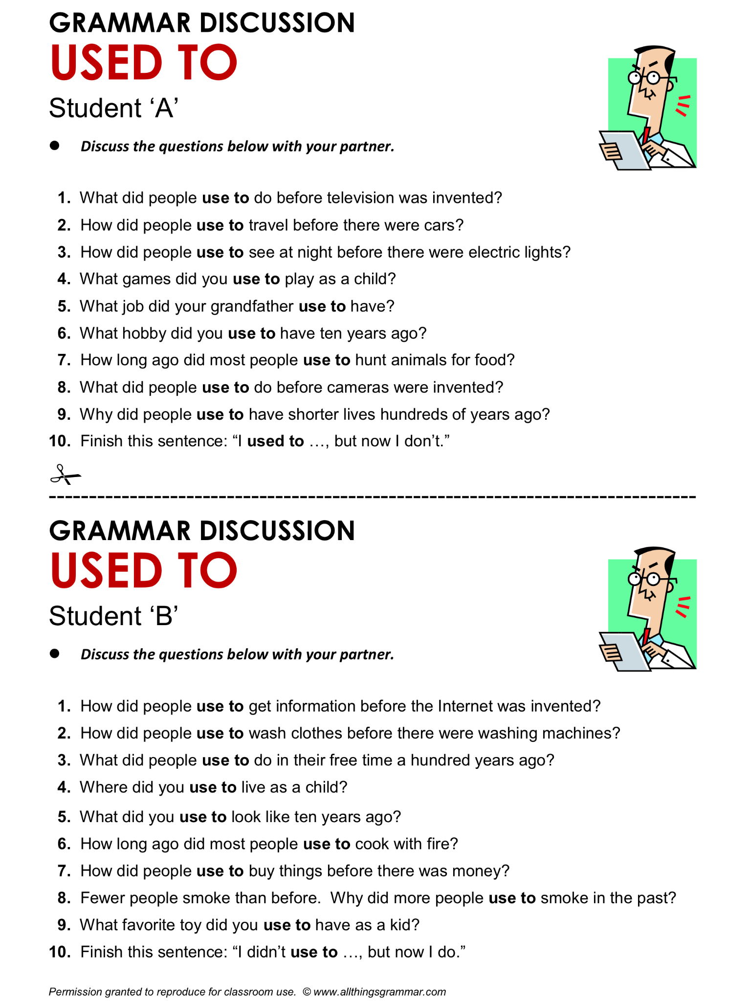 English Grammar Discussion Used To