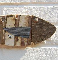 Wooden Fish - Fishing Boat White   Fish art, Fish wall art ...