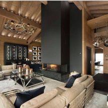 'modern Mountain Fireplace' Idee Di Design