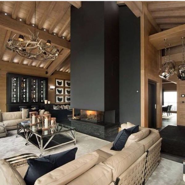 Modern Mountain Fireplace