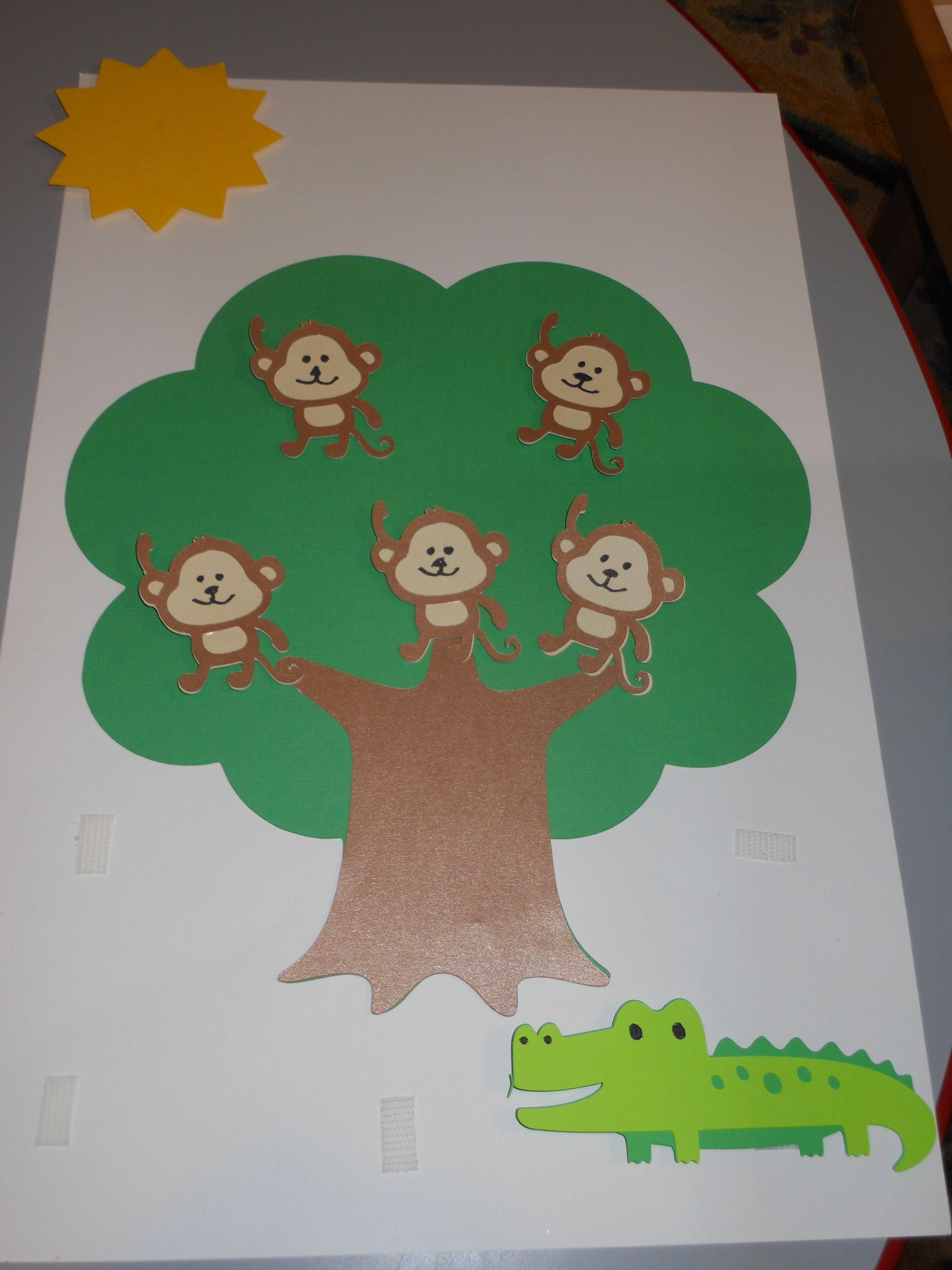 5 Little Monkeys Sitting In The Tree