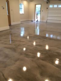 gray white epoxy metallic floor | resin epoxy | Pinterest ...