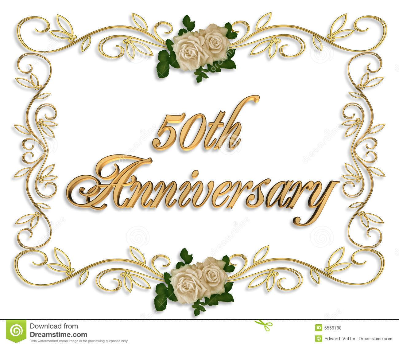 50 anniversary  Happy 50th Anniversary Clip Art 50th anniversary invitation  PARTY