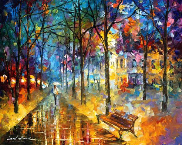 Leonid Afremov Oil Canvas Palette Knife Original Paintings Art Famous Artist