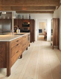 Modern rustic kitchen with modern wood cabinets. Wood ...