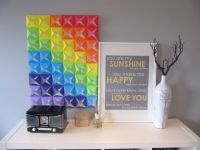 DIY Origami Wall Art - colors of the rainbow. | diy ...