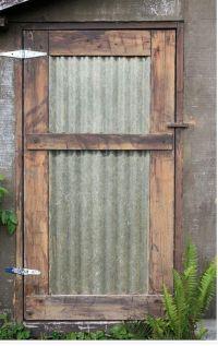 Metal roofing on door | Home Ideas | Pinterest | Doors ...