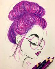 learn draw hair in bun