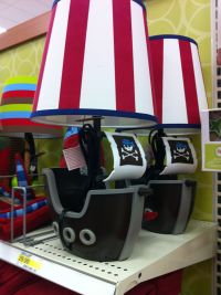 Pirate ship lamp. Target | Baby Boy Nursery | Pinterest