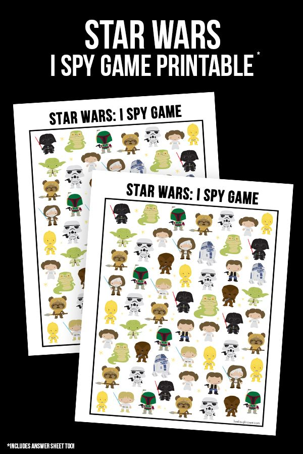 Snatch up this fun and FREE Star Wars Game I Spy Star