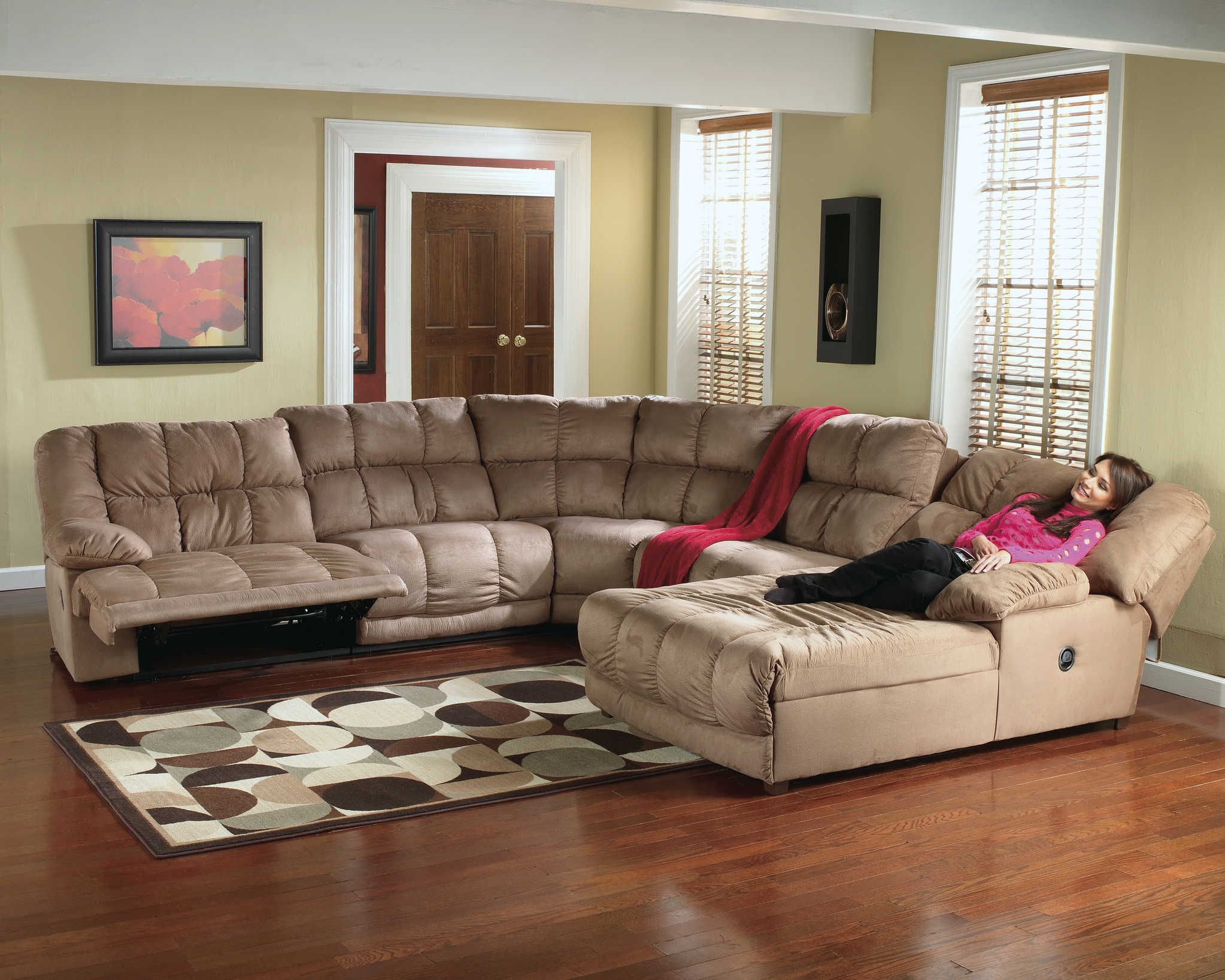 sectional sofa for living room back cushions microfiber recliner