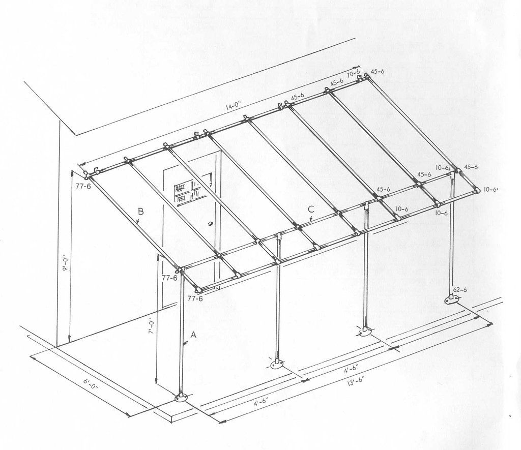 Build a simple awning frame with Kee Klamp Fittings