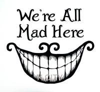 Alice In Wonderland Wall Decal Vinyl Cut Sticker Art Quote ...