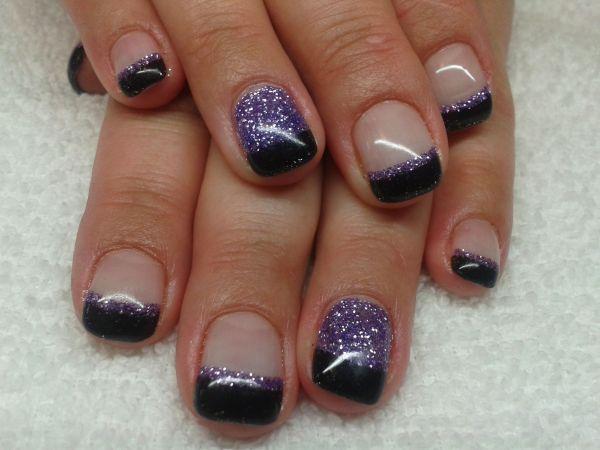 Black Glitter Gel Nails Imgurl