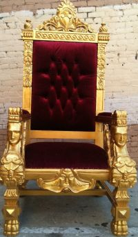 Gold & Blood Red King Ralphs Chair Queen Throne by ...