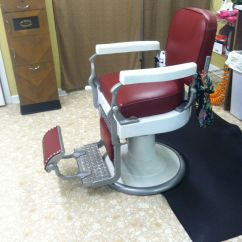 Old School Barber Chair Office Chairs Las Cruces 1925 Koken Big Red 39s Shop
