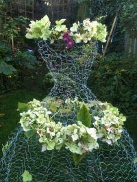 Chicken wire dress form floral design | Floral Design ...