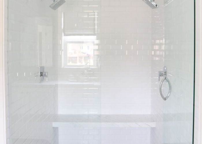 This bedroom  bathroom makeover has cozy nooks clever closets dreamy design details house tours tub shower combo and also
