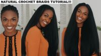 How to do Straight Crochet Braids with a Knotless Part ...