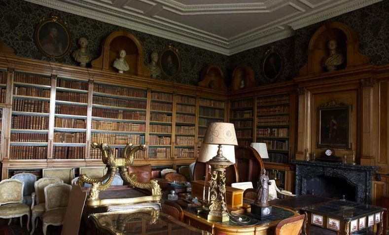 Old Victorian Library Stately Homes Old English Mansion Country