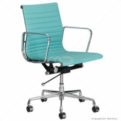 Aqua Desk Chair Rattan Garden Covers Management Office Eames Reproduction Study Nook