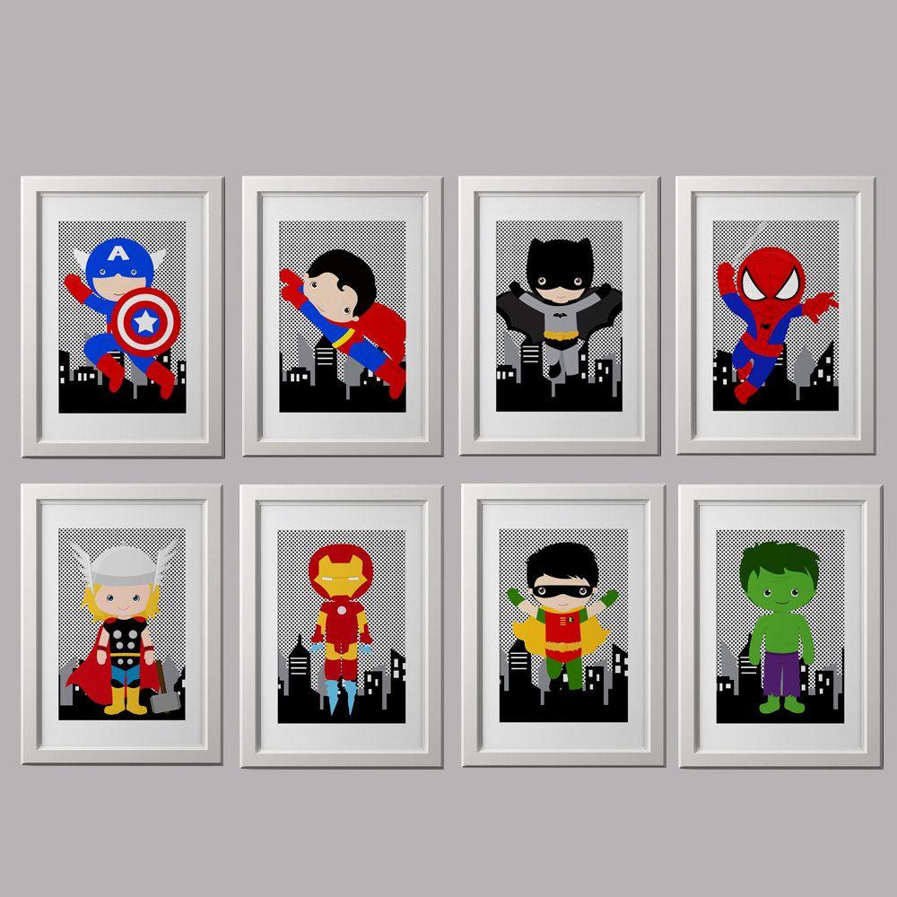 superhero nursery prints superhero bedroom by