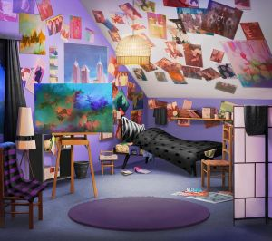 int dorm anime episode night backgrounds interactive scenery background janis hidden animation bedroom story choose episodes space aesthetic cabin cartoon