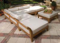 Outdoor Wood Sectional Sofa   Wooden sofa set, Sofa set ...