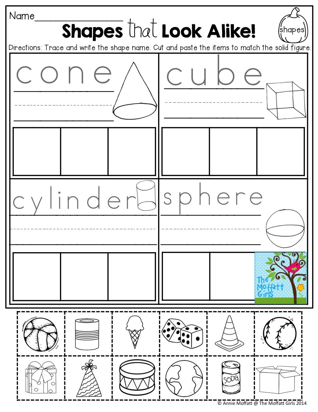 Shapes Cut And Paste Tons Of Fun Printables