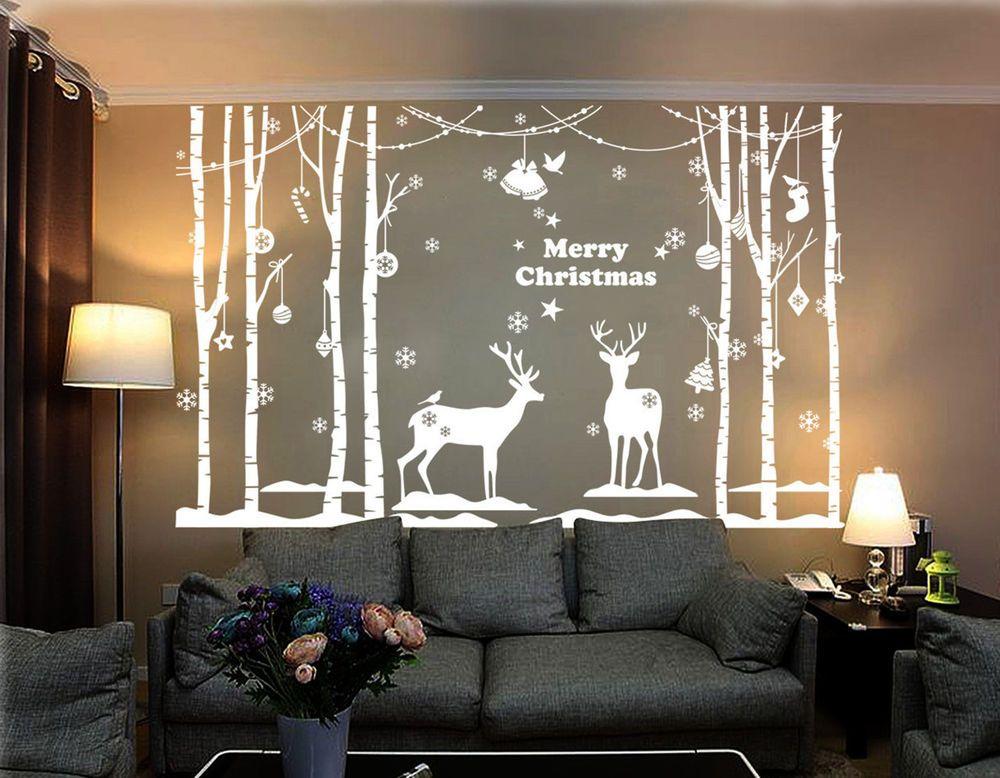Christmas Decoration Xmas Vinyl Shop Windows/Wall Stickers