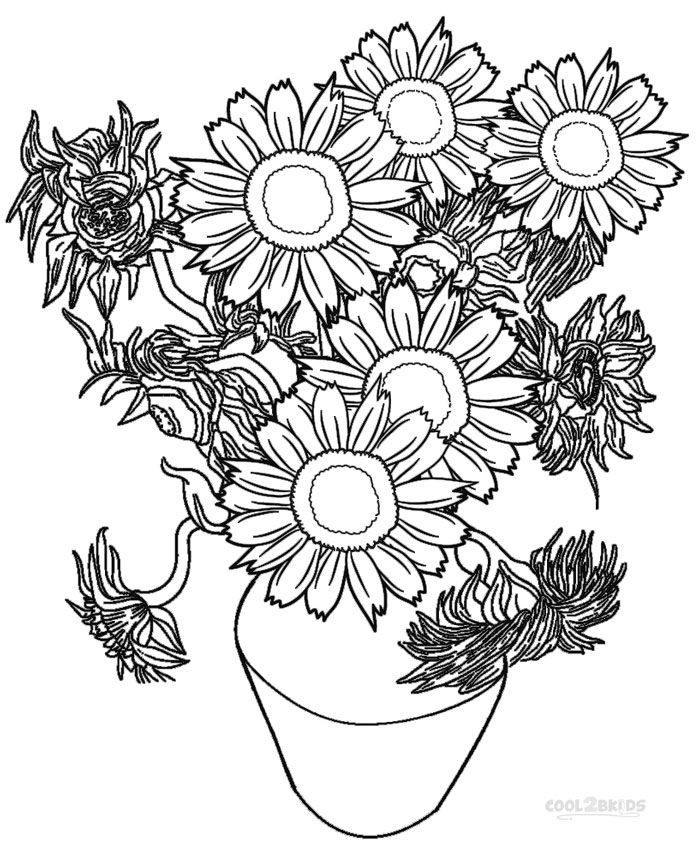 Sunflower Coloring Book Sketch Coloring Page
