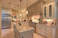 Kitchen, Granite White Spring For Traditional Kitchens ...