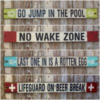 New 4 ft signs made with a vintage look. Go Jump in the ...
