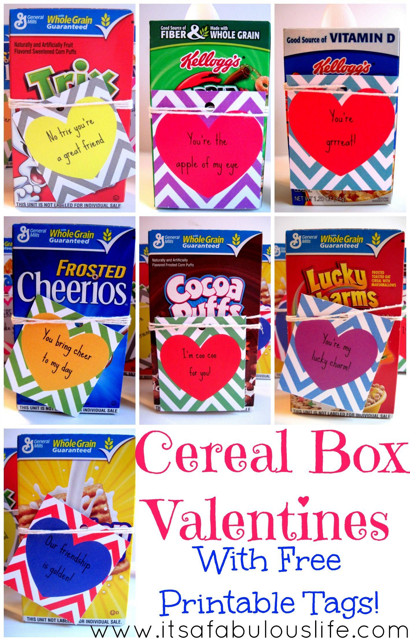 Cereal Box Valentine S